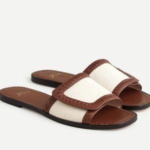 J crew framed slide sandals leather sole an888